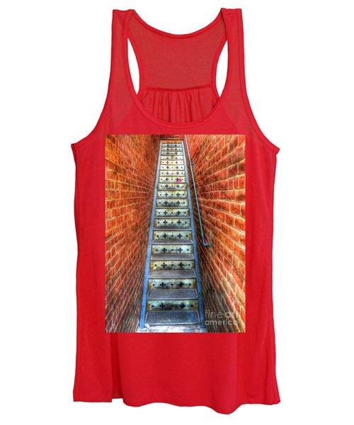 Hidden Stairway In Old Bisbee Arizona Women's Tank Top