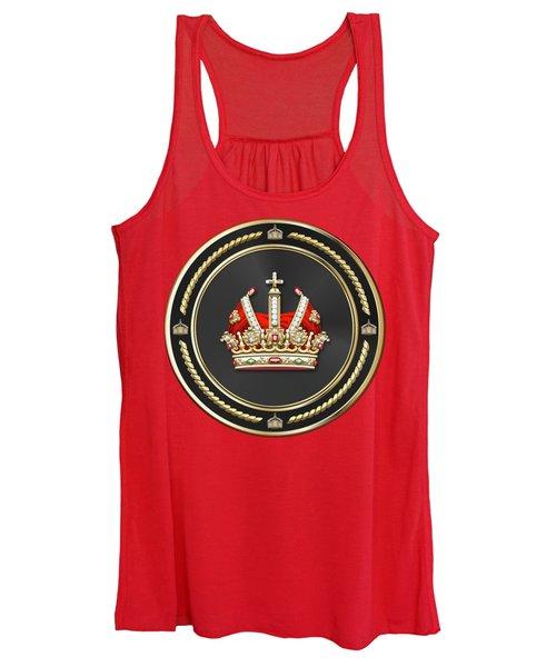 Holy Roman Empire Imperial Crown Over Red Velvet Women's Tank Top