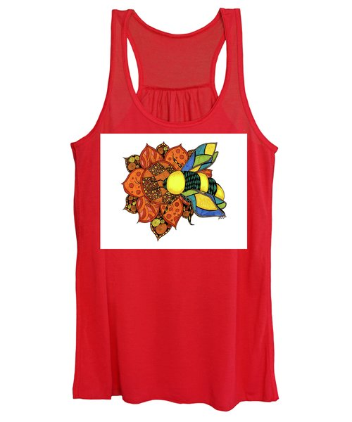 Honeybee On A Flower Women's Tank Top