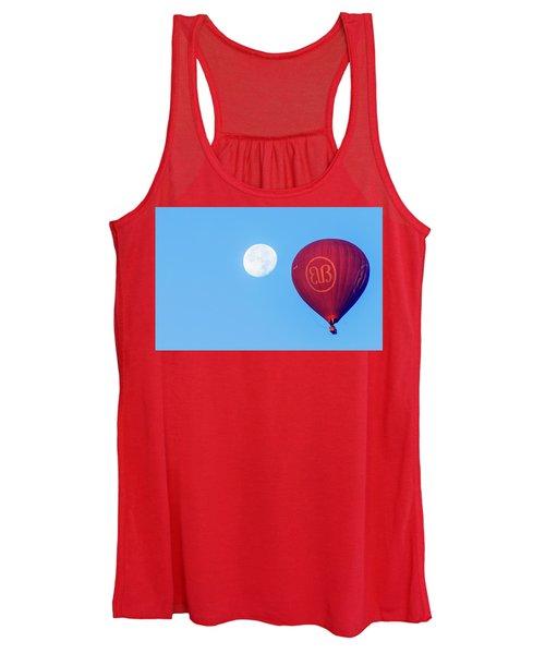 Hot Air Balloon And Moon Women's Tank Top