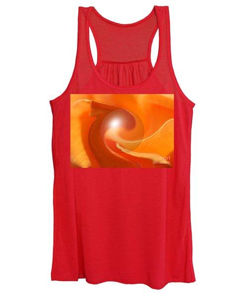 Hot Orange Globe Women's Tank Top