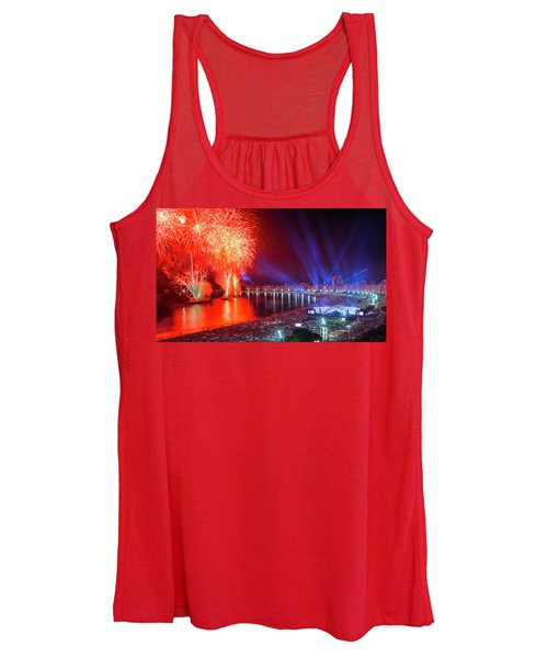Iconic And Breath-taking Fireworks Display On Copacabana Beach,  Women's Tank Top
