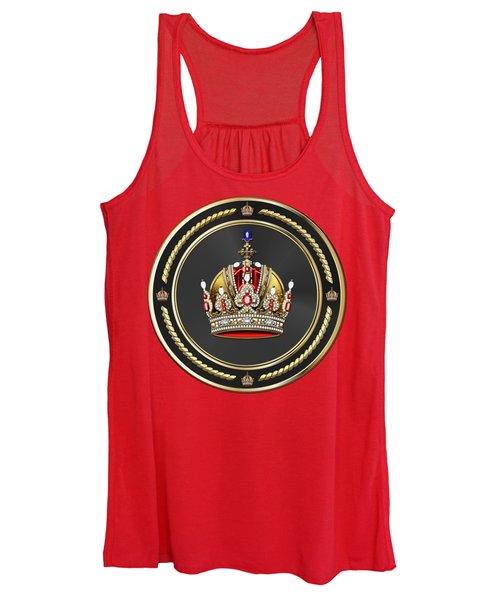 Imperial Crown Of Austria Over Red Velvet Women's Tank Top