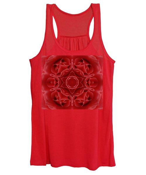 Imperial Red Rose Mandala Women's Tank Top
