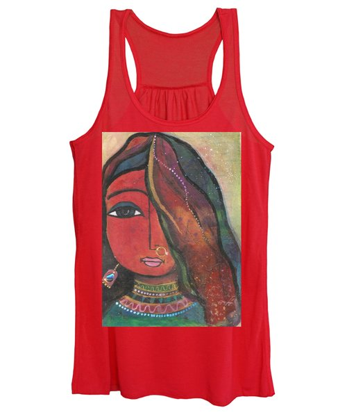 Indian Girl With Nose Ring Women's Tank Top