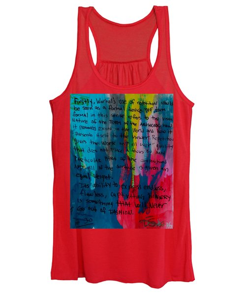 Inspiration From Warhol Women's Tank Top