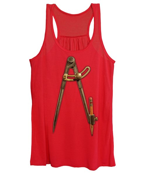 Iron Compass On Color Paper Women's Tank Top