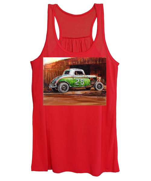 Jalopy Number 28 In Green Women's Tank Top