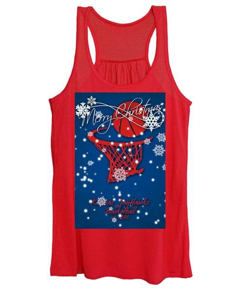 Kansas Jayhawks Christmas Card 2 Women's Tank Top