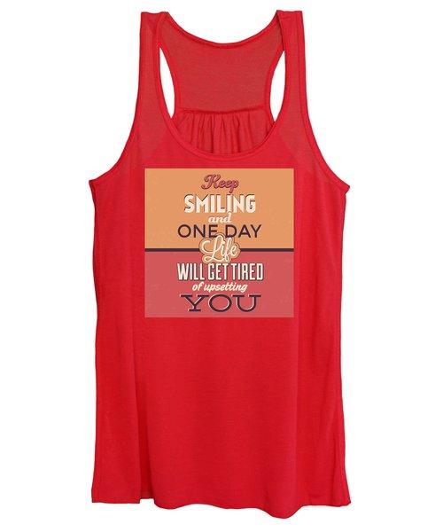 Keep Smiling Women's Tank Top