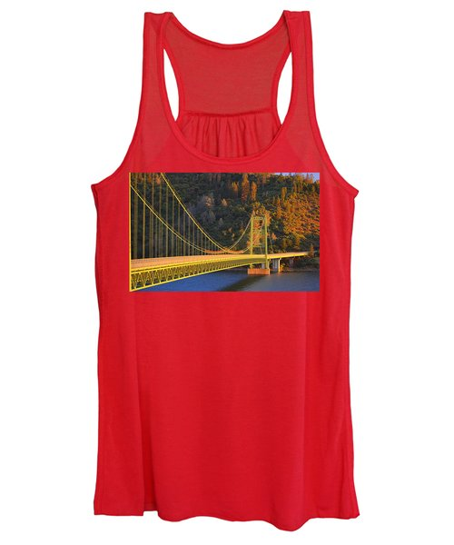 Lake Oroville Green Bridge At Sunset Women's Tank Top