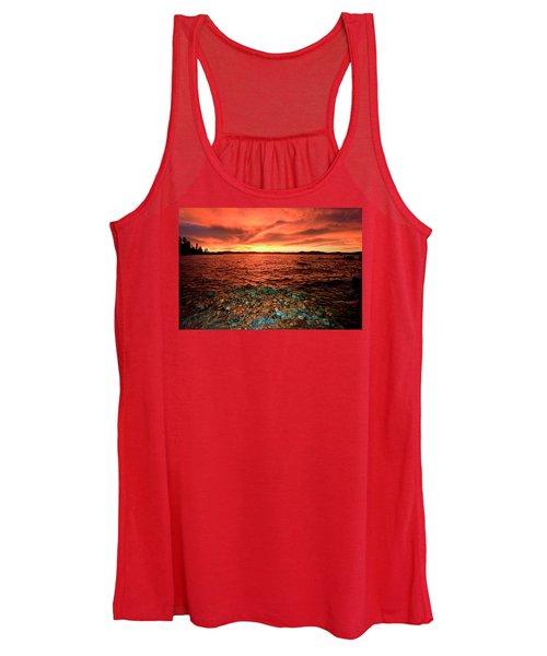 Lake Tahoe...blood Moon Sunset Women's Tank Top