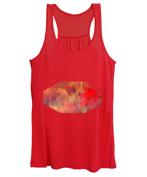 Landscape Of Dreaming Poppies Women's Tank Top