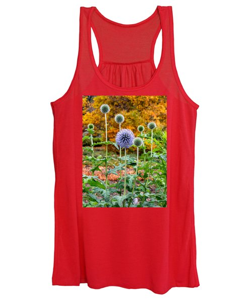 Late Bloom Among Fall Colors Women's Tank Top