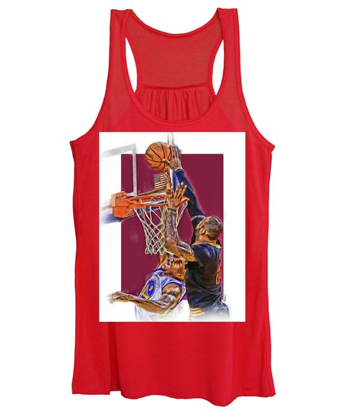 Lebron James Cleveland Cavaliers Oil Art Women's Tank Top
