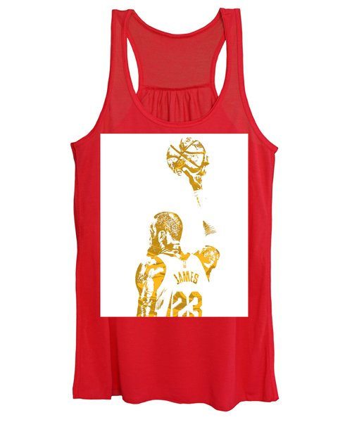 Lebron James Cleveland Cavaliers Pixel Art 71 Women's Tank Top