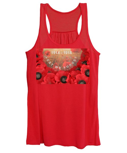 Lest We Forget - 1914-1918 Women's Tank Top