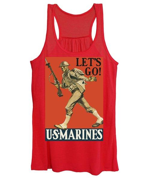 Let's Go - Vintage Marine Recruiting Women's Tank Top