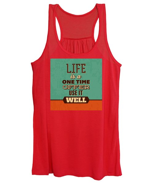 Life Is A One Time Offer Women's Tank Top