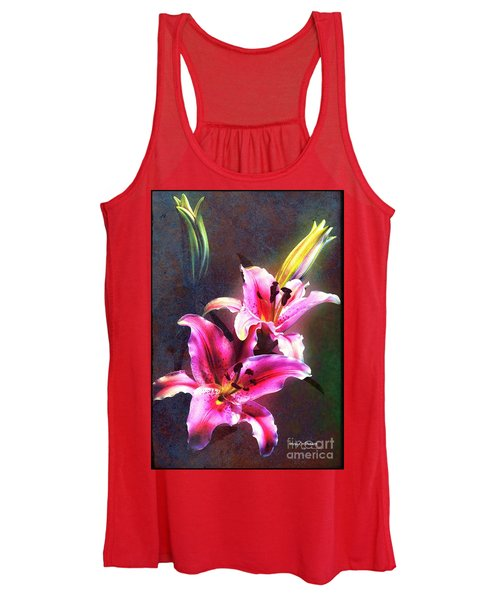 Lilies At Night Women's Tank Top