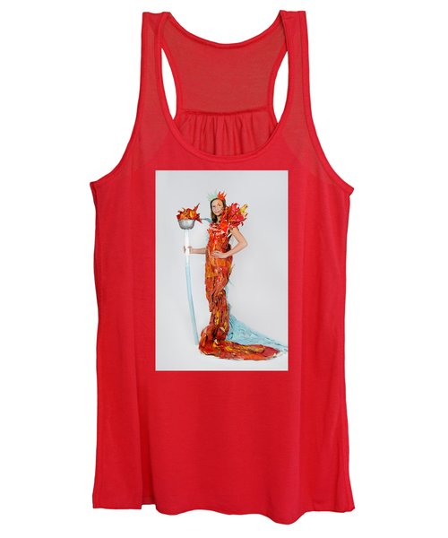 Lily In Fire And Ice Queen Women's Tank Top