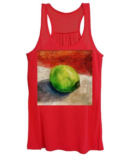 Lime Still Life Women's Tank Top