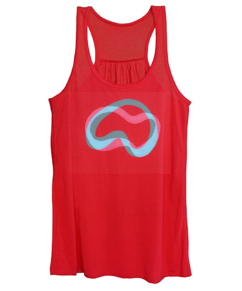 Line Study With Blue And Grey Women's Tank Top