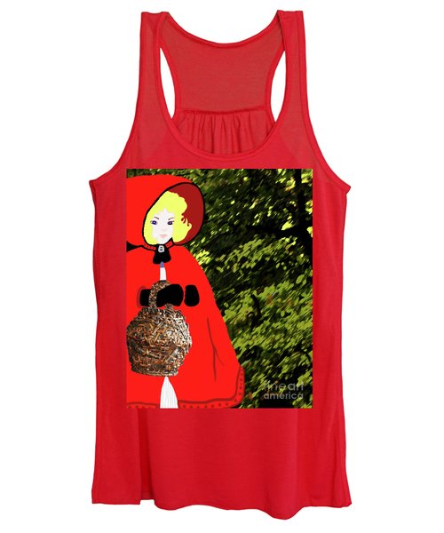 Little Red Riding Hood In The Forest Women's Tank Top