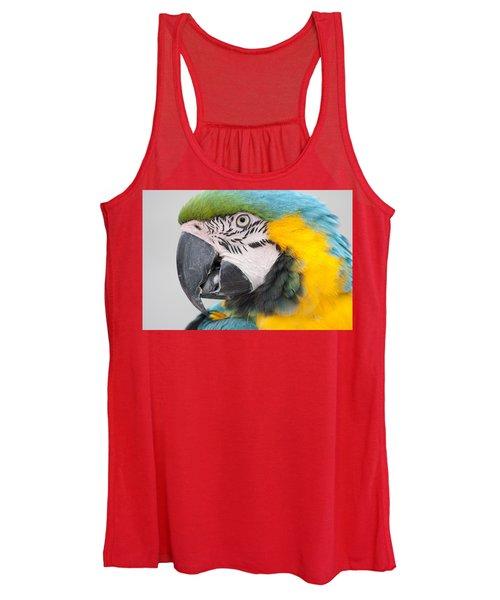 Macaw Head Plume Beauty Women's Tank Top