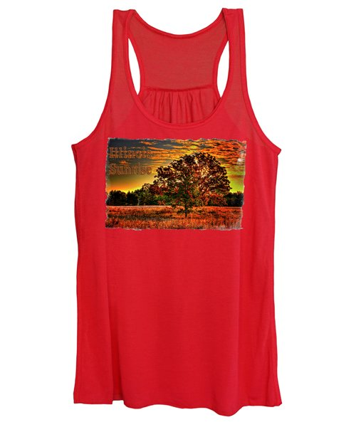 Maple Tree On An Illinois Priaire Early Autumn Women's Tank Top