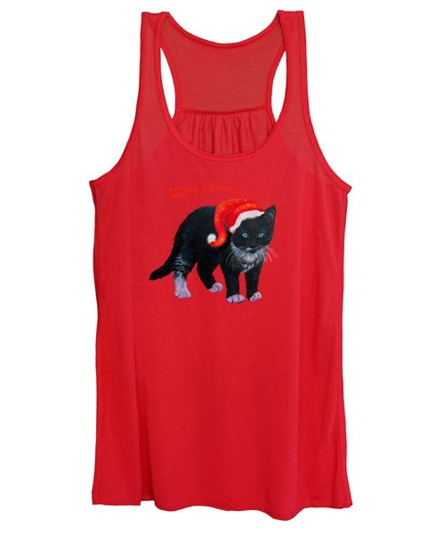 Meow Christmas Kitty Women's Tank Top