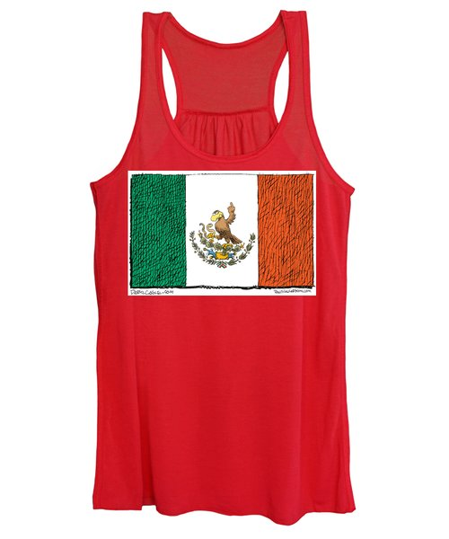 Mexico Flips Bird Women's Tank Top