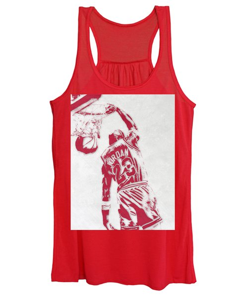 Michael Jordan Chicago Bulls Pixel Art 1 Women's Tank Top
