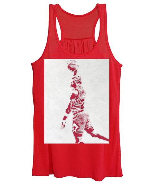 Michael Jordan Chicago Bulls Pixel Art 3 Women's Tank Top