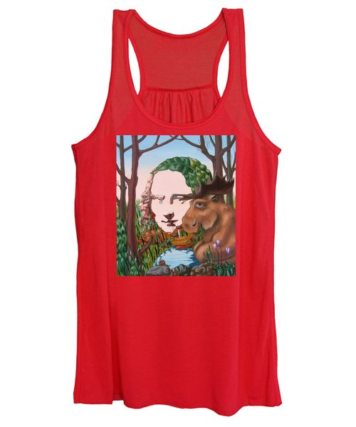 Mona Lisa . Earth Women's Tank Top