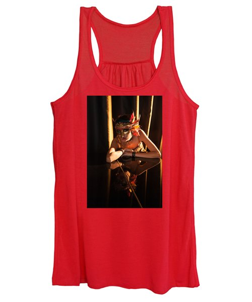 Mona. Reflection On Grand Piano Women's Tank Top