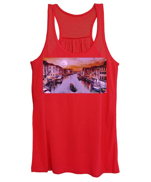 Monkey Painted Italy Again Women's Tank Top