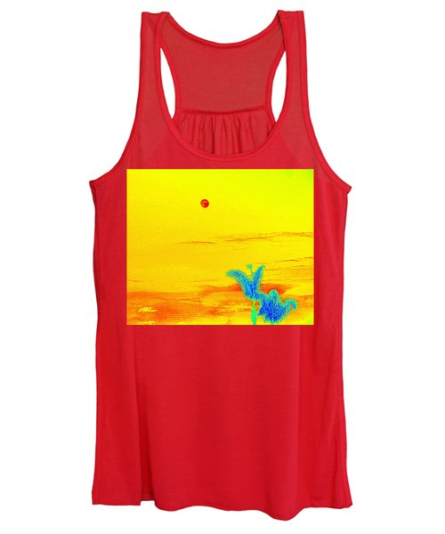 Moon And Two Palms Women's Tank Top
