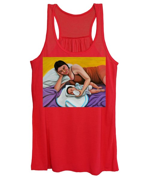 Mother Feeding Her Baby Women's Tank Top