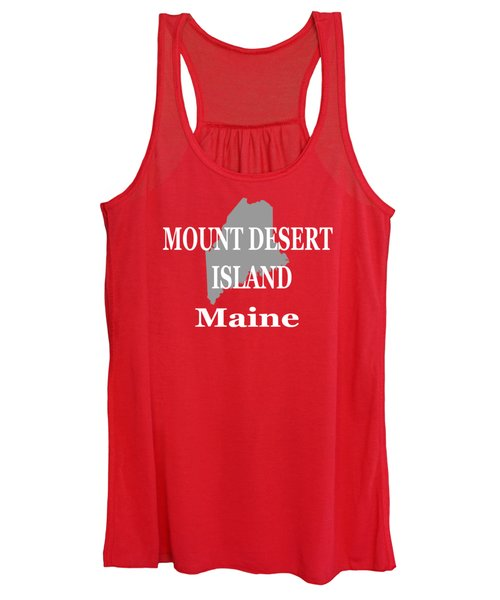 Mount Desert Island Maine State City And Town Pride  Women's Tank Top