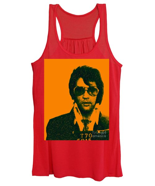 Mugshot Elvis Presley Women's Tank Top
