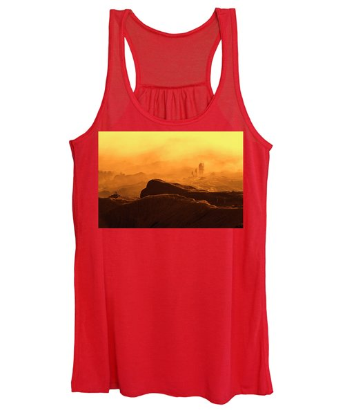 mystical view from Mt bromo Women's Tank Top