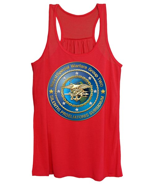 Naval Special Warfare Group Two - N S W G-2 - On Red Women's Tank Top