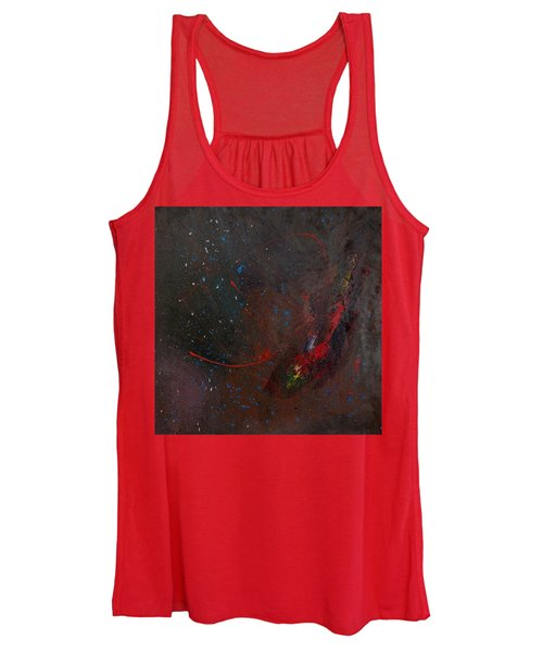 Women's Tank Top featuring the painting Nebula by Michael Lucarelli