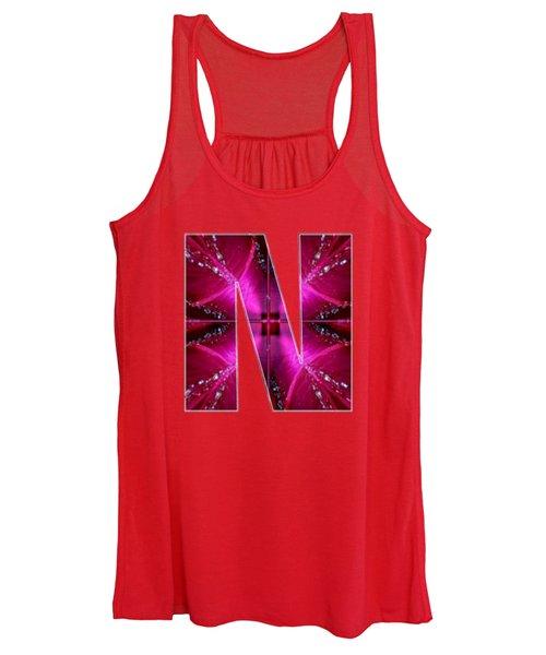 Nnn Nn N  Alpha Art On Shirts Alphabets Initials   Shirts Jersey T-shirts V-neck By Navinjoshi Women's Tank Top