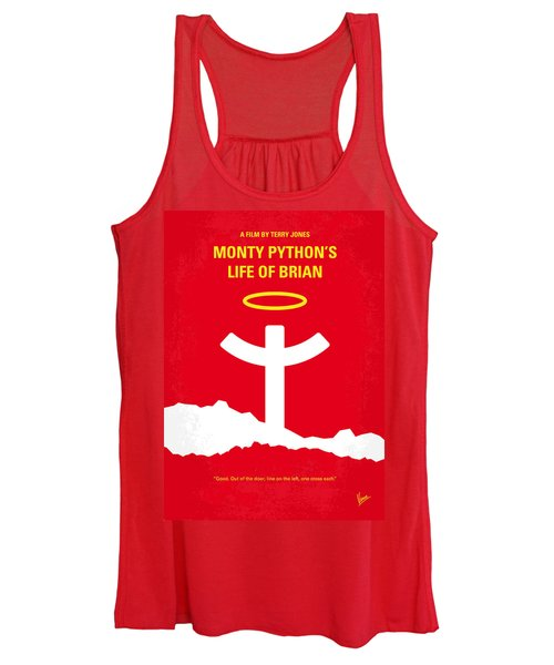 No182 My Monty Python Life Of Brian Minimal Movie Poster Women's Tank Top
