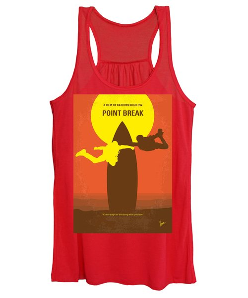 No455 My Point Break Minimal Movie Poster Women's Tank Top