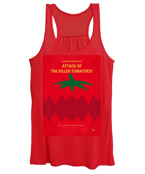 No499 My Attack Of The Killer Tomatoes Minimal Movie Poster Women's Tank Top