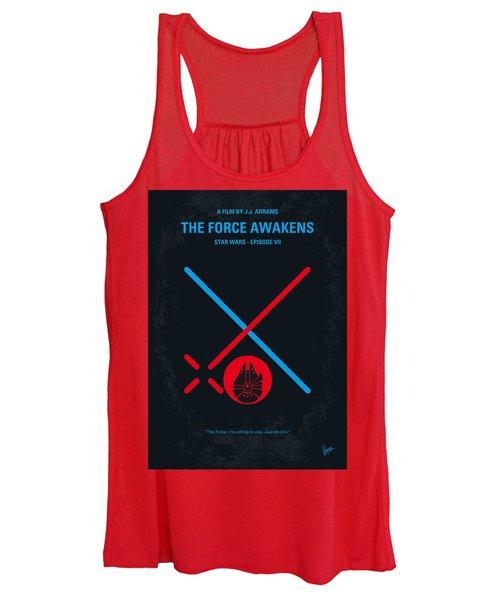 No591 My Star Wars Episode Vii The Force Awakens Minimal Movie Poster Women's Tank Top