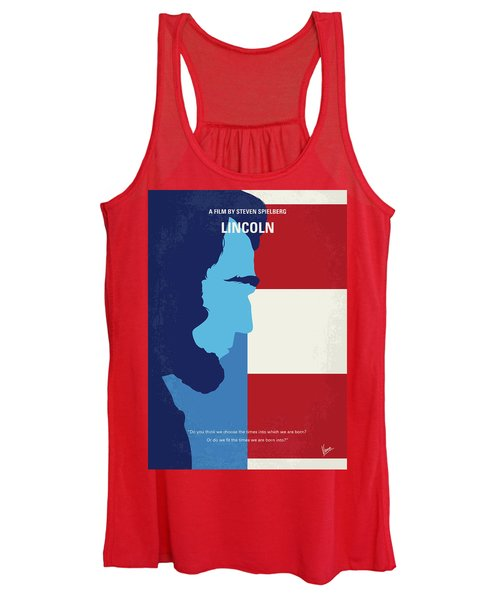 No895 My Lincoln Minimal Movie Poster Women's Tank Top